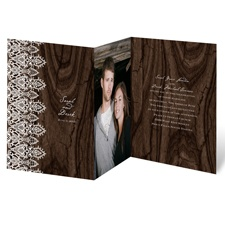 Romantic Finish Brown Wedding Invitation