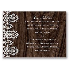 Romantic Finish - Accommodations Card