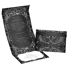 Chalkboard Beauty Seal and Send Wedding Invitation