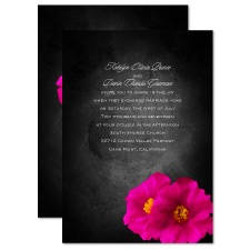 Brilliant Floral Fuchsia Wedding Invitation