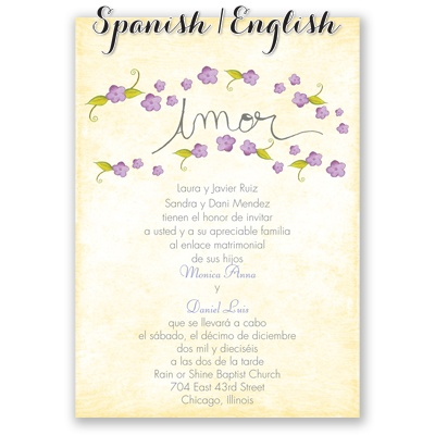 invitation   purple spanish wedding invites at Invitations By Dawn RByOFECe