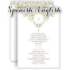 Wedding Invitation Wording En Espanol Yaseen for