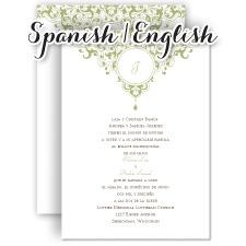Wedding Invitation Wording En Espanol Yaseen For