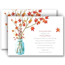 Autumn Arrangement Wedding Invitation