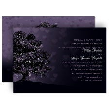Shades of Love Purple Wedding Invitation