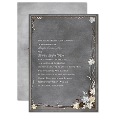 Chalkboard Autumn Sterling Wedding Invitation