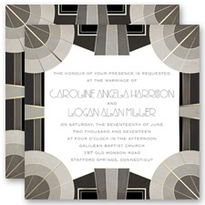 Extravagance - Black - Invitation