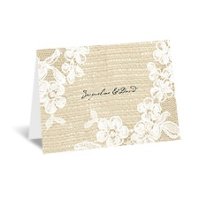 Burlap and Lace - Thank You Card