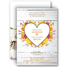 Autumn Love Wedding Invitation