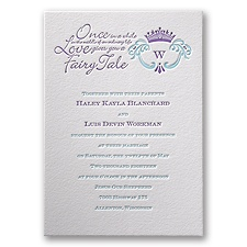 Simply Charming Letterpress Wedding Invitation
