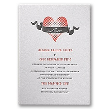 In Love - Letterpress Invitation