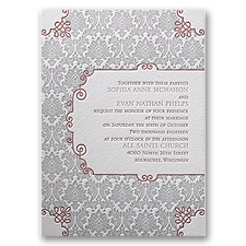Beautifully Vintage Letterpress Wedding Invitation