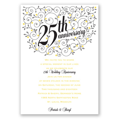 25th Wedding Anniversary Invitation Wording In Spanish Yaseen for