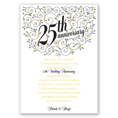 25 wedding anniversary invitations in spanish