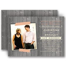 Sticking Together Wedding Invitation