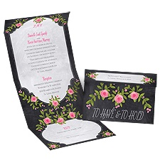 Painted Roses Seal and Send Wedding Invitation