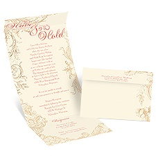 Yours to Hold Ecru Seal and Send Vintage Wedding Invitation