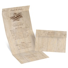 Choose Your Design Rustic Seal and Send Brown Wedding Invitation