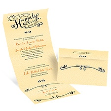 Our Ever After Butter Seal and Send Wedding Invitation