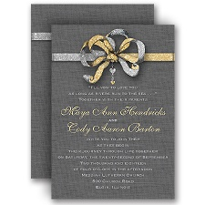 Ribbon Brooch - Faux Glitter - Invitation