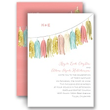 Party Tassels - Faux Glitter - Invitation
