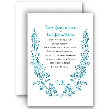 Glimmer and Glow Palm Faux Glitter Wedding Invitation