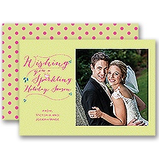 Sparkling Holiday - Photo Holiday Card