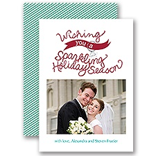 Sparkling Wishes - Photo Holiday Card