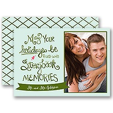 Storybook Memories - Mint - Photo Holiday Card