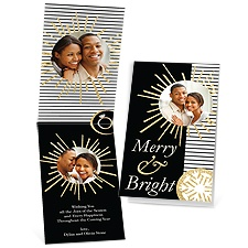 Love Shines - Faux Glitter - Photo Holiday Card