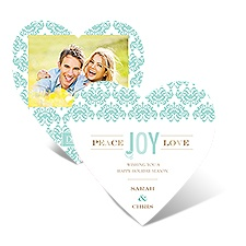 Damask Heart - Surf - Photo Holiday Card