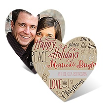 Joyful Heart - Cherry - Photo Holiday Card