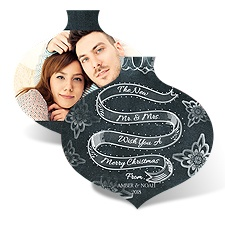 Chalkboard Ornament - Photo Holiday Card
