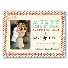 Sassy Stripes - Holiday Card Save the Date