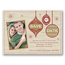 Retro Holiday - Holiday Card Save the Date