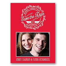 Stamped with Love Holiday Card Photo Save the Date