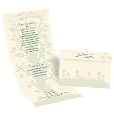 Love's Reach - Ecru - Seal and Send Invitation