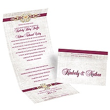 Vintage Glam - Seal and Send Invitation