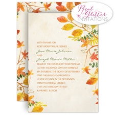 Autumn Hues - Real Glitter Invitation