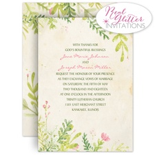 Spring Blossoms - Real Glitter Invitation