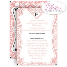 Art Deco Dazzle Real Glitter Wedding Invitation