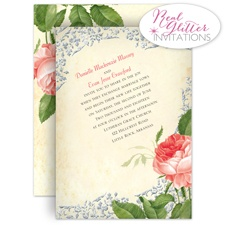 Brilliant Rose - Real Glitter Invitation
