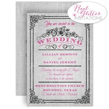 Always Glowing Real Glitter Wedding Invitation