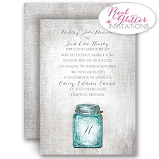 Taste of Country Real Glitter Wedding Invitation