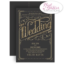 The Wedding - Real Glitter Invitation