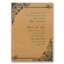 Antique Treasure - Real Wood Invitation