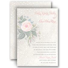 Snowy Rose Wedding Invitation