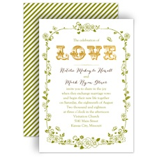Rose Garden Wedding Invitation