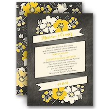 Poppy Perfection Ecru Wedding Invitation