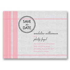 Sweetly Stitched - Save the Date Card